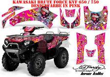 AMR RACING DEKOR GRAPHIC KIT ATV KAWASAKI KVF 650i & 750i ED-HARDY LOVEKILLS B