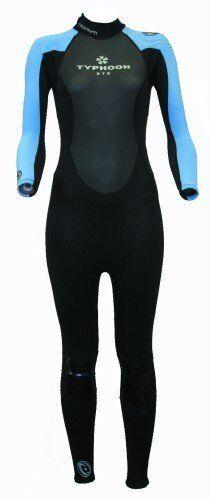 Sciame Donna Taglia 12 Petto Completo Muta Da Donna Taglia 36 in blu//nero per ragazze ca. 91.44 cm