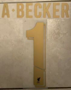 Flocage Nameset Alisson Becker #1 Liverpool 2019-2020 Home. Champion League