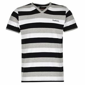 T-Shirt-Col-V-Homme-PIERRE-CARDIN-Taille-S-Neuf