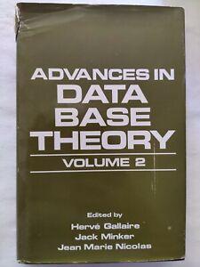 BOOK ADVANCES IN DATA BASE THEORY VOLUME 2 GALLAIRE MINKER NICOLAS 0306416360