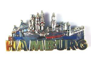 Hamburg-Landungsbruecken-3D-Metall-Magnet-Metallic-silber-Germany-hochwertig