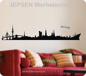 Wandtattoo-Hamburg-Skyline-100x20cm-H11-Wandtatoo-Tanzende-Tuerme-Fernsehturm