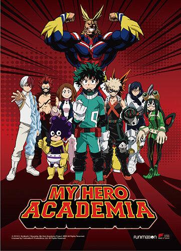 **Legit Poster** My Hero Academia U.A High Hero Group Key Art Wallscroll #86691