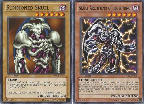 Yugioh Skull Archfiend Summoned Skull Authentic Titan Deck 40 Cards  NM