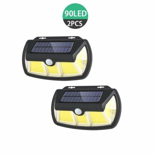90 LED Solar Power PIR Motion Sensor Wall Light Waterproof Outdoor Garden Lamp