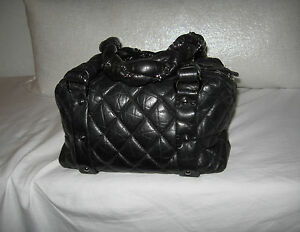 82f57dabe258 Image is loading CHANEL-BLACK-QUILTED-DISTRESSED-LEATHER-LADY-BRAID-SMALL-
