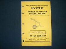 Hyster 98 98r Logging Arch Parts Book Amp Instructional Manual Cat D8 D9 Tractor