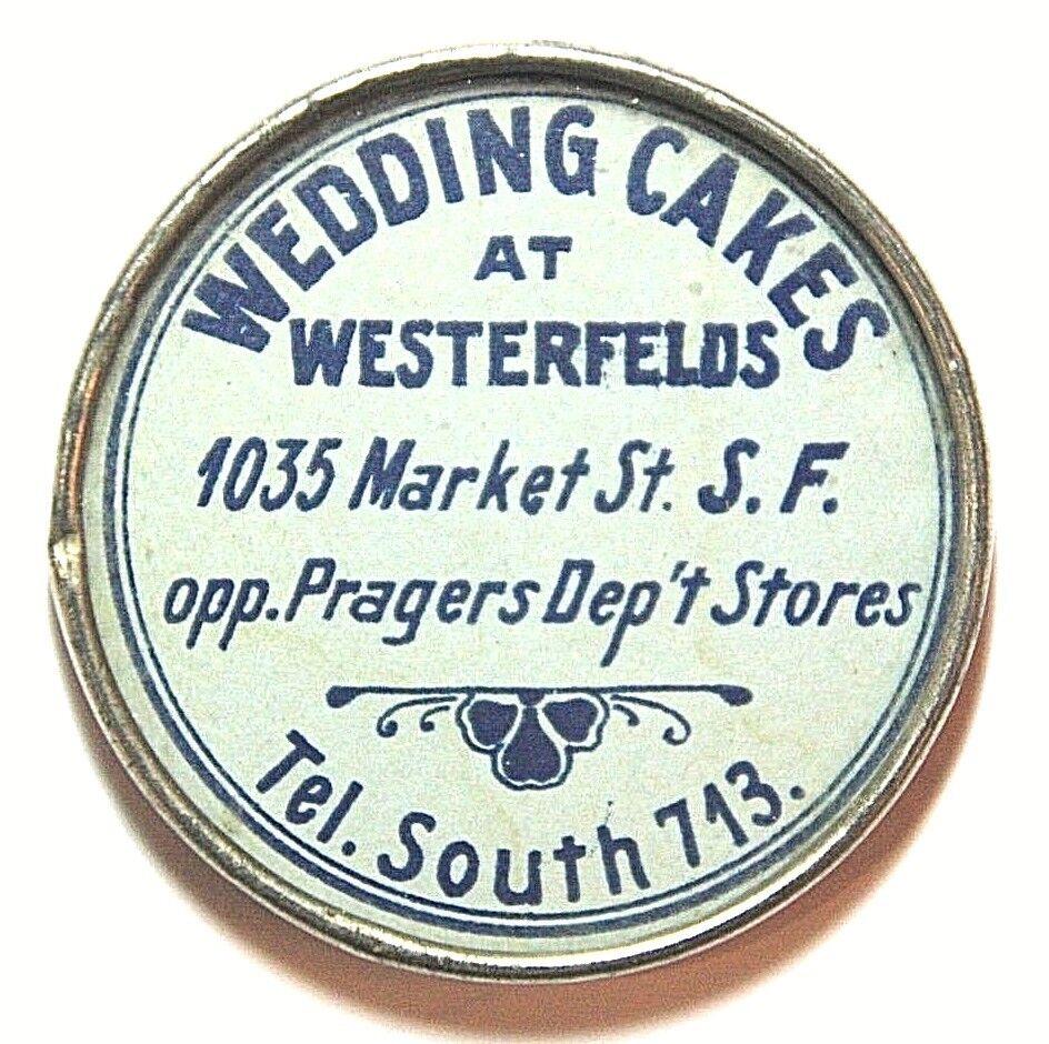 Advertising Mirror Wedding Cakes at Westerfields, San Francisco California