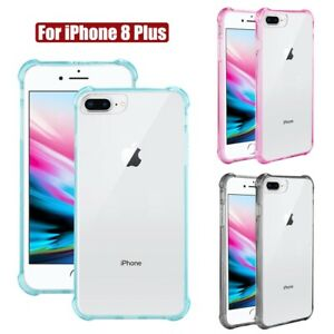 Details about For iPhone 8 Plus Case Bumper Air Cushion Corner Protection Cover Clear Back