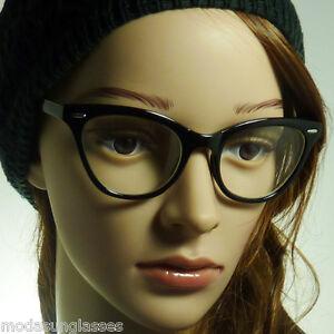 c267c909c 60s Cat Eye Vintage Retro Pointed Eyewear Women Frame Clear Lens Eye ...