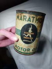Vintage Marathon Endurance Motor Oil Quart Can