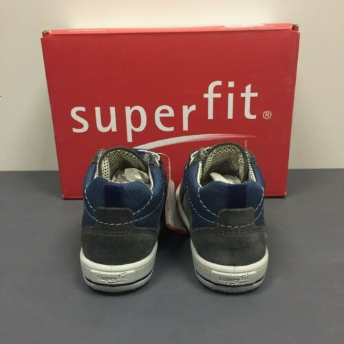 SUPERFIT Moppy Stone//Navy All Season Boys Kids Hi-Top Ankle Trainers 700356