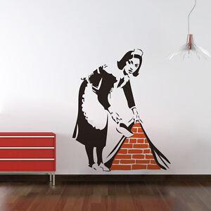Wandtattoo-Hausfrau-Hausdame-Premium-Wandsticker-Putzfrau-Wandsticker