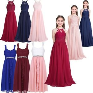 image is loading girls lace flower wedding bridesmaid dress junior formal