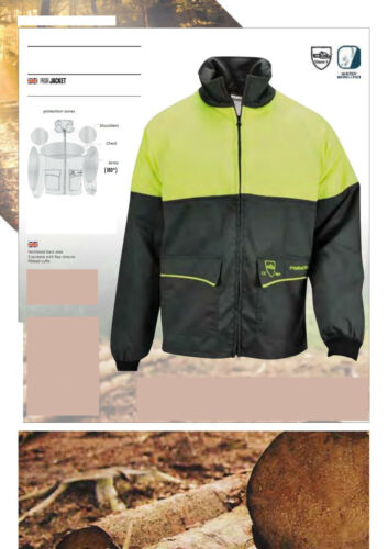 CHAINSAW JACKET PRIOR CLASS 1 Francital Size Small Green and Yellow