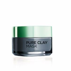 Pure-Clay-Mask-Detoxify-with-Charcoal-From-L-039-Oreal-Paris-50-ml-Free-Shipping