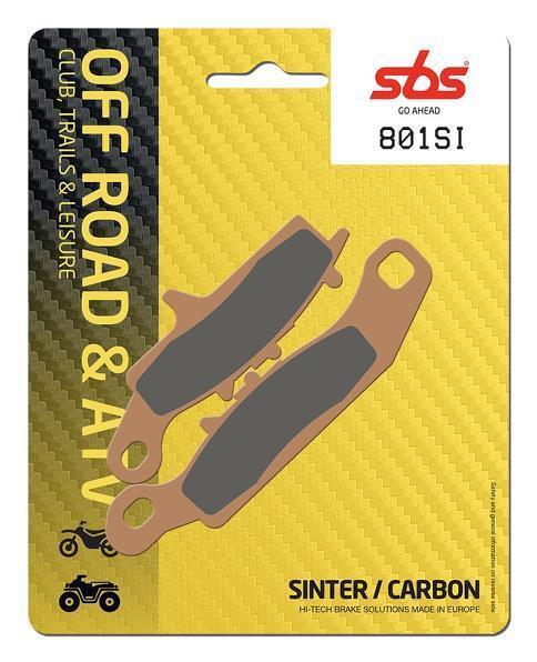 SBS Offroad Front & Rear Sinter Brake Pads 801SI