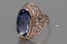 vr184rp Russian Corundum Alexandrite & other color stones rose gold plated ring!