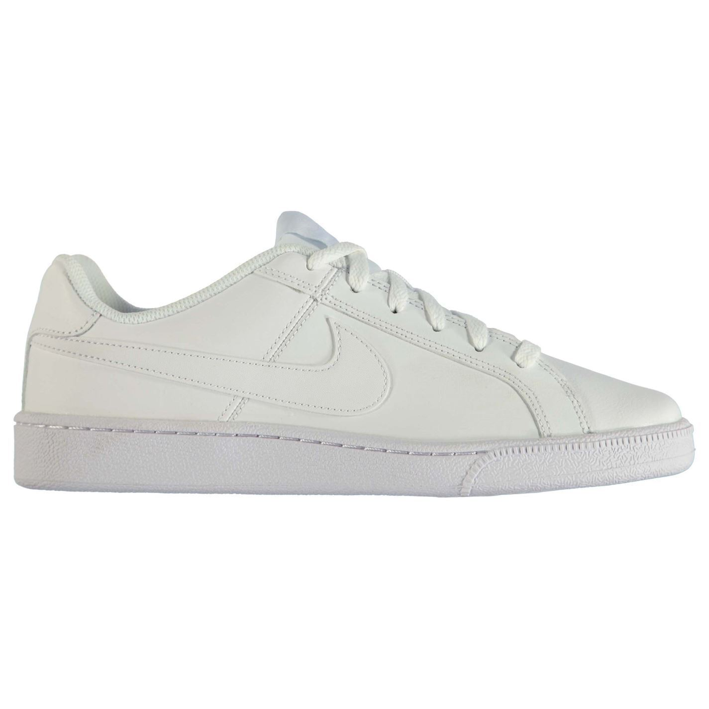 Nike Court Royale Trainers Mens White/White Sports Shoes Sneakers Footwear