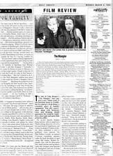 Stephen King THE MANGLER film review in DAILY VARIETY March 6, 1995