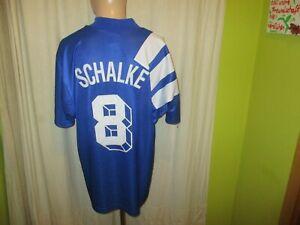 FC-Schalke-04-Original-Adidas-Heim-Trikot-1994-95-034-Kaercher-034-Nr-8-Gr-XL-XXL