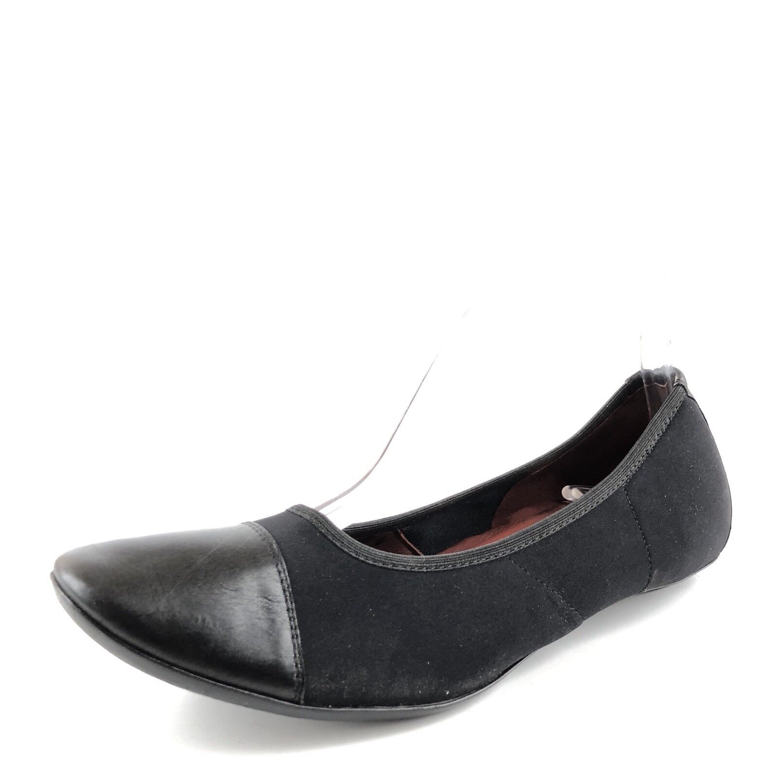 Donald J Pliner Halo Black Leather Stretch Flats Womens Size 7 M