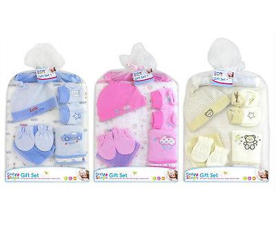 """Baby Gift Set """"primi Passi's Adatta Dalla Nascita In Poi Coperta Scarpine Hanger-mostra Il Titolo Originale"""
