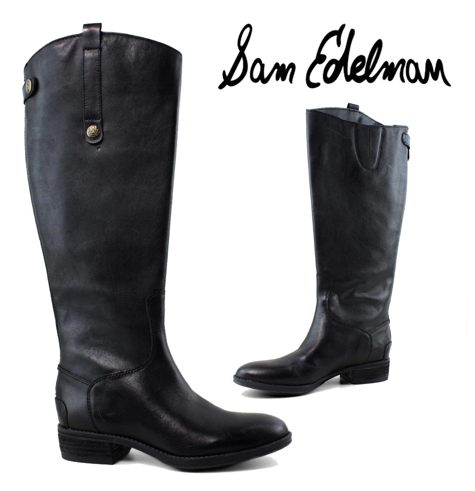 Sam Edelman Penny Equestrian Premium Premium Premium Leather Riding Boots 7.5 Retail  190 e2e315
