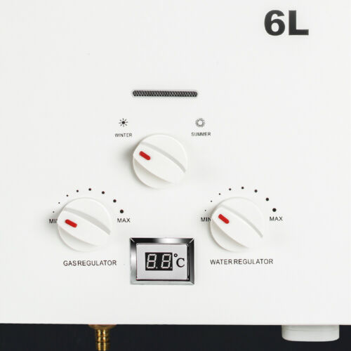 Portable 6L Instant  Propane LP Gas Tankless Hot Water Heater 1800pa For Camper
