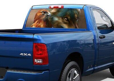 nature pickup truck SUV Rear window graphic view thru decal sticker