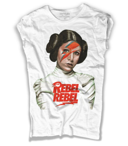 T-Shirt Prinzessin Leila Leia Rebel Rebel Bowie Star Wars Star Wars