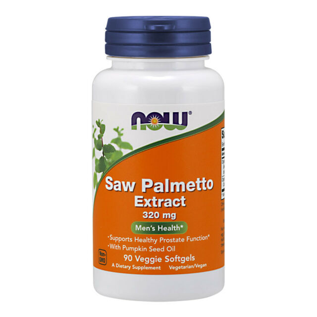 NOW Foods estratto di saw Palmetto (serenoa repens)  320mg  90 Softgels NOW4756