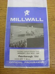 22111965 Millwall v Peterborough United  Score Noted Inside Unless previous - Birmingham, United Kingdom - Returns accepted within 30 days after the item is delivered, if goods not as described. Buyer assumes responibilty for return proof of postage and costs. Most purchases from business sellers are protected by the Consumer Contr - Birmingham, United Kingdom