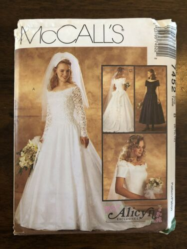Mccall/'s 7452 Misses Bridal Gown And Bridesmaids Dress Uncut