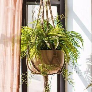 Plant-Basket-Pot-Hanger-Rope-Holder-DIY-Handcraft-Window-Jute-Flowerpot-Hanging