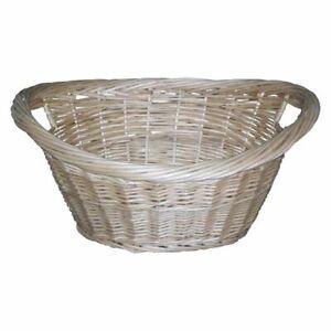 NEW Cane Design Willow Washing Basket