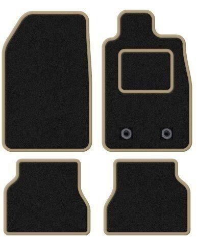 LEXUS IS200 1999-2005 TAILORED BLACK CAR MATS WITH BEIGE TRIM