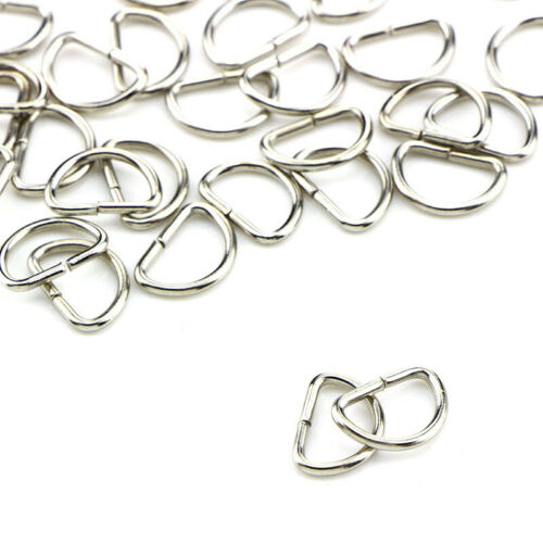 10 Stücke Metall D Ring D-ringe Geldbörse Schnallen Für Kleidung Tasche Fall PDH