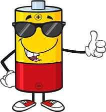 30 Custom Cool Cartoon Battery Personalized Address Labels