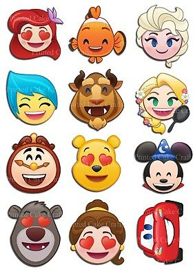 24 x EMOJI SMILEY FACES IPHONE ICONS PRE-CUT edible WAFER CARD cup cake toppers