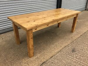 Excellent Details About 5 6 7 8 9 Ft Solid Pine Farmhouse Dining Table Chunky Square Leg Custom Made Pabps2019 Chair Design Images Pabps2019Com