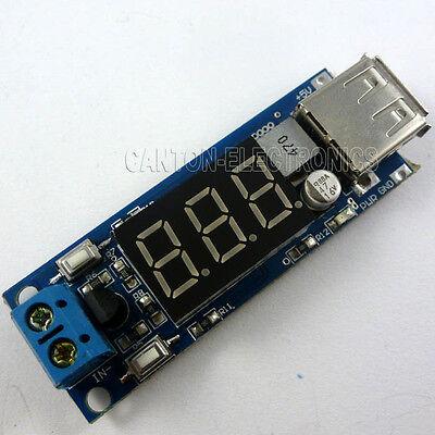 LED Voltmeter & Buck Module DC 7V~40V to 5V Volt Meter Solar USB Charger Arduino
