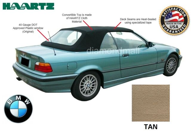 BMW E36 3-Series Convertible Soft Top 1994-1999 TAN Twillfast factory material