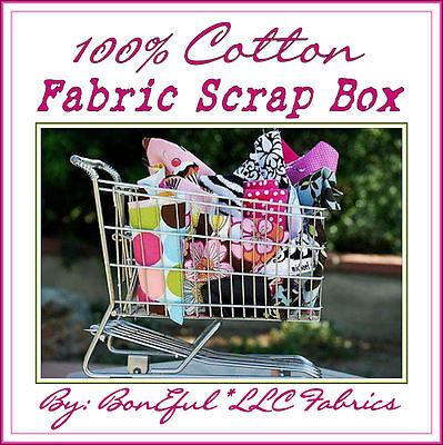 BonEful Fabric COTTON QUILT LOT Scrap BOX Kid Flower Girl Scout 4H Sew*ing SALE