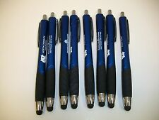 8 Lot Misprint Pens with Soft Tip Stylus / Pen Tip Combo for Touch Screen, Blue