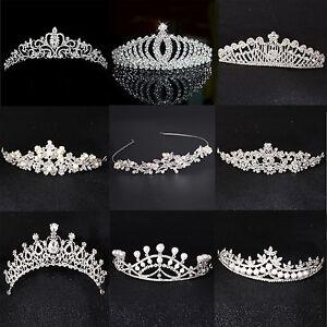 Bridal-Princess-Crystal-Flower-Hair-Tiara-Crown-Rhinestone-Wedding-Prom-Headband