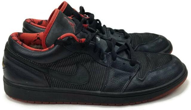 Size 13 - Jordan 1 Retro Low Black Silver Red