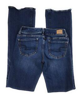 American-Eagle-Artist-Super-Stretch-Flare-Low-Rise-Distressed-Jeans-Women-039-s-4L