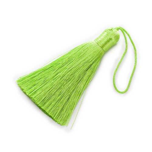 2 Pcs Silk Tassels Tassel Fringe Jewelry Making DIY Accessories Findings 8cm